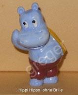 Happy Hippos im Fitness Fieber  von 1990  - Hippi Hippo  ohne Brille - ohne BPZ  -  5x