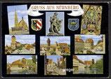 AK Gruß aus Nürnberg, Mehrbildkarte   81p