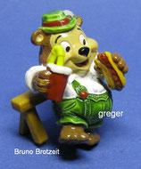 T.T.Teddies in Volksfeststimmung von 1996  - Bruno Brotzeit  -  mit BPZ   -  1x