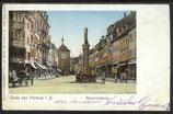 AK Gruss aus Freiburg-Kaiserstrasse v.1900    3/26
