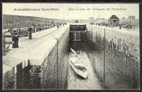 AK Großschiffahrtskanal Berlin-Stettin, Blick in eine der Schleusen bei Niederfinow    2/25
