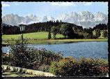 AK Schwarzsee mit Kitzbühl, gegen Wilden Kaiser, Tirol     61/3