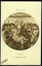 AK Musee de Berlin, Botticelli La vierge et L´Enfant    62/1