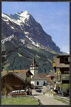 AK Grindelwald Kirche mit Eiger   37/1