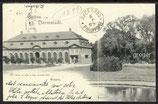 AK Deutsches Reich, von 1899, Orangerie, Gruss aus Darmstadt    99e