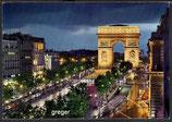 AK Paris, L'Arc de Triomphe et le Champs-Elysees    66-0