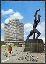 AK Rotterdam, Denkmal Zertrümmerte Stadt    49/27