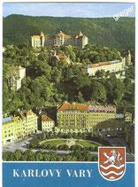 AK Karlovy Vary, Gesamtansicht, Sanatorium Imperial im Hintergrund     51/1