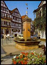 AK Bad Orb, Brunnen am Marktplatz   68/6