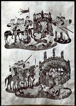 AK St. Gallen. Stiftsbibliothk, Illustration im Goldenen Psalter    14-l