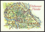 AK Landkarte DDR Dübener Heide    q30