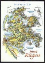 AK Landkarte DDR Insel Rügen    q23