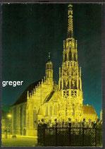 AK Nürnberg, schöner Brunnen und Frauenkirche   87p