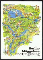 AK Landkarte DDR Berlin Müggelsee    q35