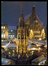 AK Postkarte, Motiv: Christkindles-Markt in Nürnberg  70/28