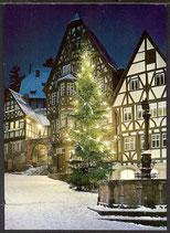 AK Miltenberg, Marktplatz mit Weihnachtsaum   34/27