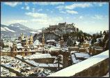 AK Salzburg Blick auf die Altstadt mit Festung Hohen Salzburg    30/24