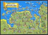 AK Landkarte Schönes grünes Küstenland    q36