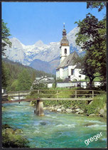 AK Ramsau, Berchtesgaden, Kirche mit Reiteralpe    36/22
