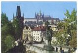 AK Prag, Karlsbrücke und größerer Kleinseitner Brückenturm      51/34