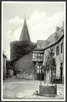 AK Hohenlimburg, Schlosshof mit Brunnen   31d