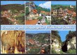 AK Fränkische Schweiz Mehrbildkarte, Urlaubsgebiet    21/9