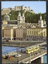 AK Salzburg, Staatsbrücke und Blick auf Festung     52/39