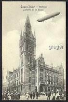 AK Essen–Ruhr, Rathaus mit Zeppelin   21d