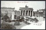 AK Deutsches Reich 1899 Gruss aus Berlin, Brandenburger Tor 6/29
