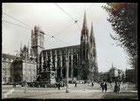 AK Rouen, Place de Hötel-de-Ville Église St-Quentin   76-l