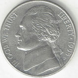 Kursmünze USA FIVE CENTS von 1995 P    8x