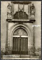 AK Wittenberg, Thesentür an der Schlosskirche   14m