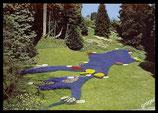 AK  Insel Mainau im Bodensee, Blumenrelief Bodensee im   Ufergarten   70/37