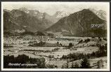 AK Oberhof mit Alpenkette, Panorama   33d