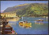 AK Zell am See mit Uferpromenade und Grand-Hotel   29/33