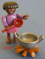 Faszinierendes Afrika von 1995  - Frau mit Kochstelle  - 636-142    7x