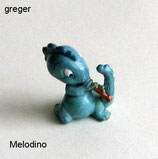 Die Drolly Dinos von 1993  -  Melodino  - ohne BPZ   -  10x