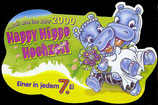 1x Ü-Ei Palettenanhänger 1999 Die Happy Hippo Hochzeit    Nr.7