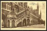 AK  Lübeck, Rathaus und Treppe   19d