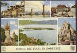 AK Lindau, die Insel im Bodensee, Mehrbildkarte     54/36