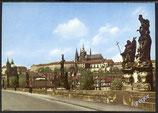 AK Prag Burg von der Karlsbrücke aus    w20