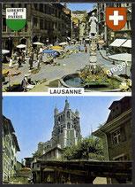 AK Lausanne Mehrbildkarte   37/29