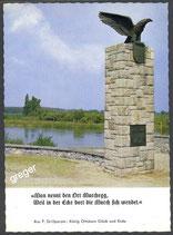 AK Marchegg, Motiv mit dem Denkmal der österreichischen Zollwache      52/2
