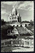 AK Paris, le Sacre-Coeur Cœur et les Square Saint-Pierre.    91/29