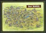 AK Landkarte Der schöne Harz    q13