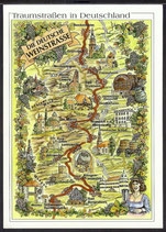 AK Landkarte Die deutsche Weinstrasse    q8