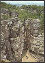 AK Tiské Stěny, ein Felsengebirge in Tschechien     57/25