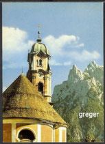 AK Mittenwald. Pfarrkirche St.Peter u. Paul    36m