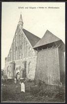 AK Wiek auf Rügen Kirche mit Glockenturm    3/21