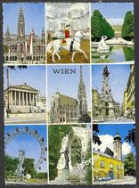 AK Gruss aus Wien, Mehrbildkarte    54/16